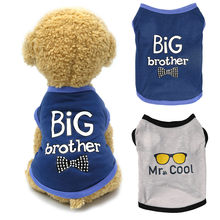 Pet Dog Clothes For Small Dogs BIG Brother Letter Shirt Painting Polar Puppy Coat Pets Cat Warm Clothes Autumn Winter Pet Coat*5(China)