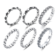 WOSTU Hot Sale 925 Sterling Silver 9 Styles Stackable Party