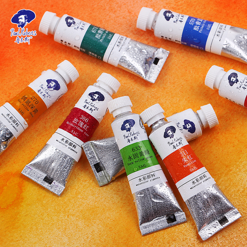 NEW Paul Rubens 40 Colors Watercolor Paints Tube Hand-painted Water Color Paint Pigment For Beginner Drawing  Art Supplies Gift