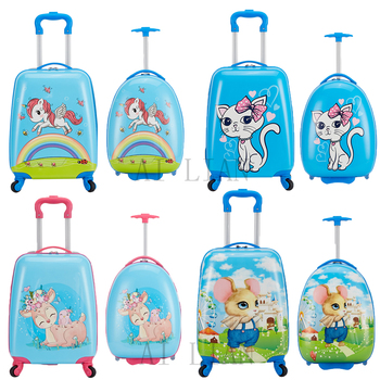 kids travel suitcase spinner wheels children's carry ons cabin trolley luggage bag Cartoon case rolling luggage for kid gifts letrend korean trolley cute pink suitcase wheels cosmetic case women vintage leather travel bag retro password box cabin luggage