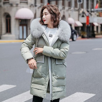 Plus Size Winter Long  Parkas Mujer 2020 Thick Down Jacket Women Cotton Padded Long Overcoat Fashion Fur Hooded Coat Female недорого
