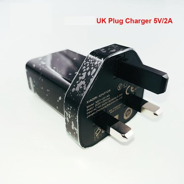 XIAO mi adaptateur USB 5V 2A prise britannique chargeur mural mi cro câble de USB type C pour mi 9 9t 8 6 cc9 a1 a2 mi X rouge mi note 8 7 k20 pro 5 4 4x