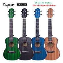 Mahogany Ukulele Guitarra Acoustic Tenor Electric 4-Strings Concert 23-26inch