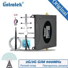 Lintratek Русский усилитель сигнала 2G GSM 900 МГц 65 дБ GSM 900 сотовый телефон Усилитель повторителя сотового сигнала + повторитель антенны GSM Yagi