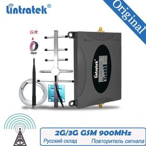 Image 1 - Lintratek 신호 부스터 2G GSM 900mhz 65dB GSM 900 휴대 전화 셀룰러 신호 리피터 앰프 + GSM 야기 안테나 리피터