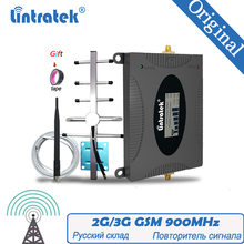Lintratek Signal Booster 2G GSM 900mhz 65dB GSM 900  Cell Phone Cellular Signal Repeater Amplifier + GSM Yagi Antenna Repeater