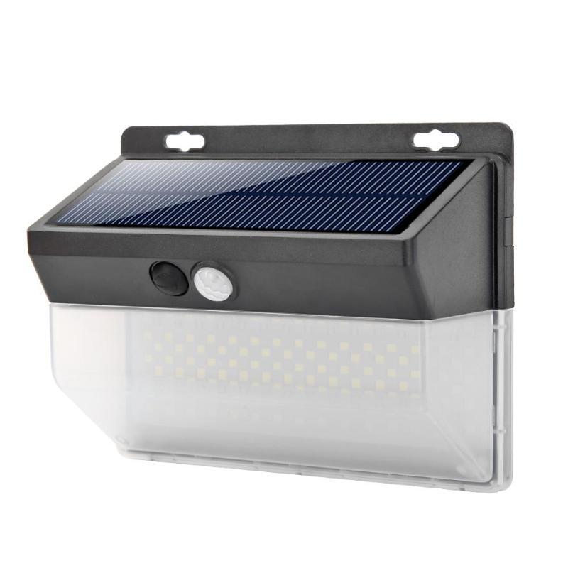 206LED Solar Motion Sensor Wall Light Outdoor Waterproof Garden Street Lamp
