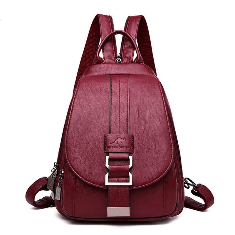 2019 Women Leather Backpacks High Quality Bagpack Ladies Sac A Dos Travel Back Pack Female Leather Backpack Mochilas School Bags