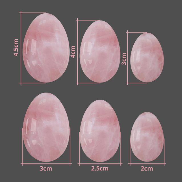 Dropshipping Rose Quartz Yoni Egg Vaginal Tightening Kegel Exerciser Vaginal Massage Yoni Wand Kegel Massage Ball 5