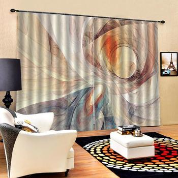 Drapes Cortinas Luxury Blackout 3D Window Curtains For Living Room Bedroom Customized size morden curtains