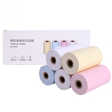 Line-Paper Adhesive for A6 Pocket Thermal-Printer Clear Printing Fine 5-Rolls/Set Strong