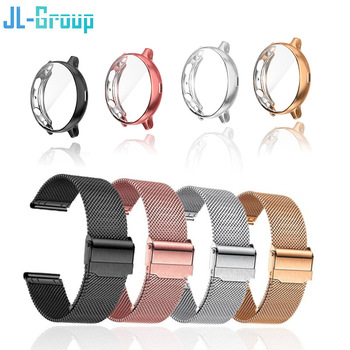Strap For Samsung Galaxy Watch 4 Active 2 40mm 44mm Band With Protector TPU Case Screen Watch 3 41mm 45mm Bracelet Accessories 1