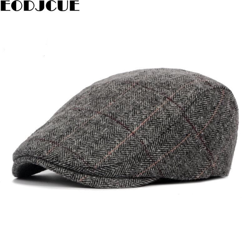 Winter Hat Men's Casual Fashion Cotton Berets Outdoor Checkered Tongue Cap Male Bone Dad's Hat Trucker Caps For Men