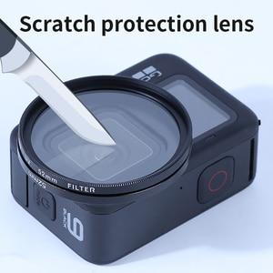 Image 2 - Durável prático filtro adaptador anel uv cpl vermelho fld nd4 6 8 close up + 10 lente acessórios de mergulho para gopro hero 9 preto