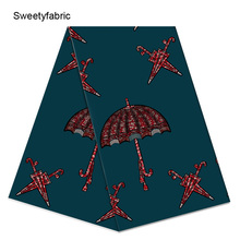 100% Cotton Ankara African Umbrella Prints Wax Fabric High Quality Guaranteed Veritable
