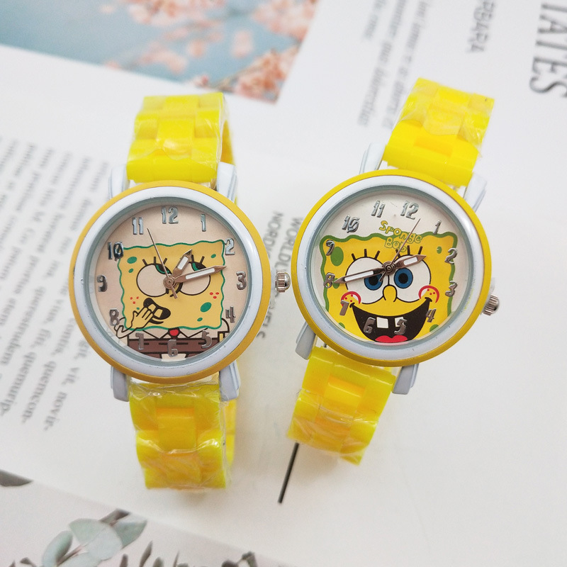 High Quality Fashion Cute Children Watch Cartoon Imitation Ceramic Strap Watch Boy Girl Student Watch