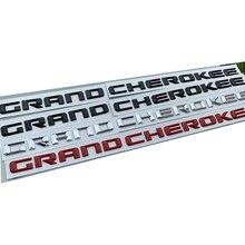 2pc OEM dla jeep Grand Cherokee przednie lewe i prawe drzwi boczne godło tabliczka znamionowa odznaka Logo litery naklejki