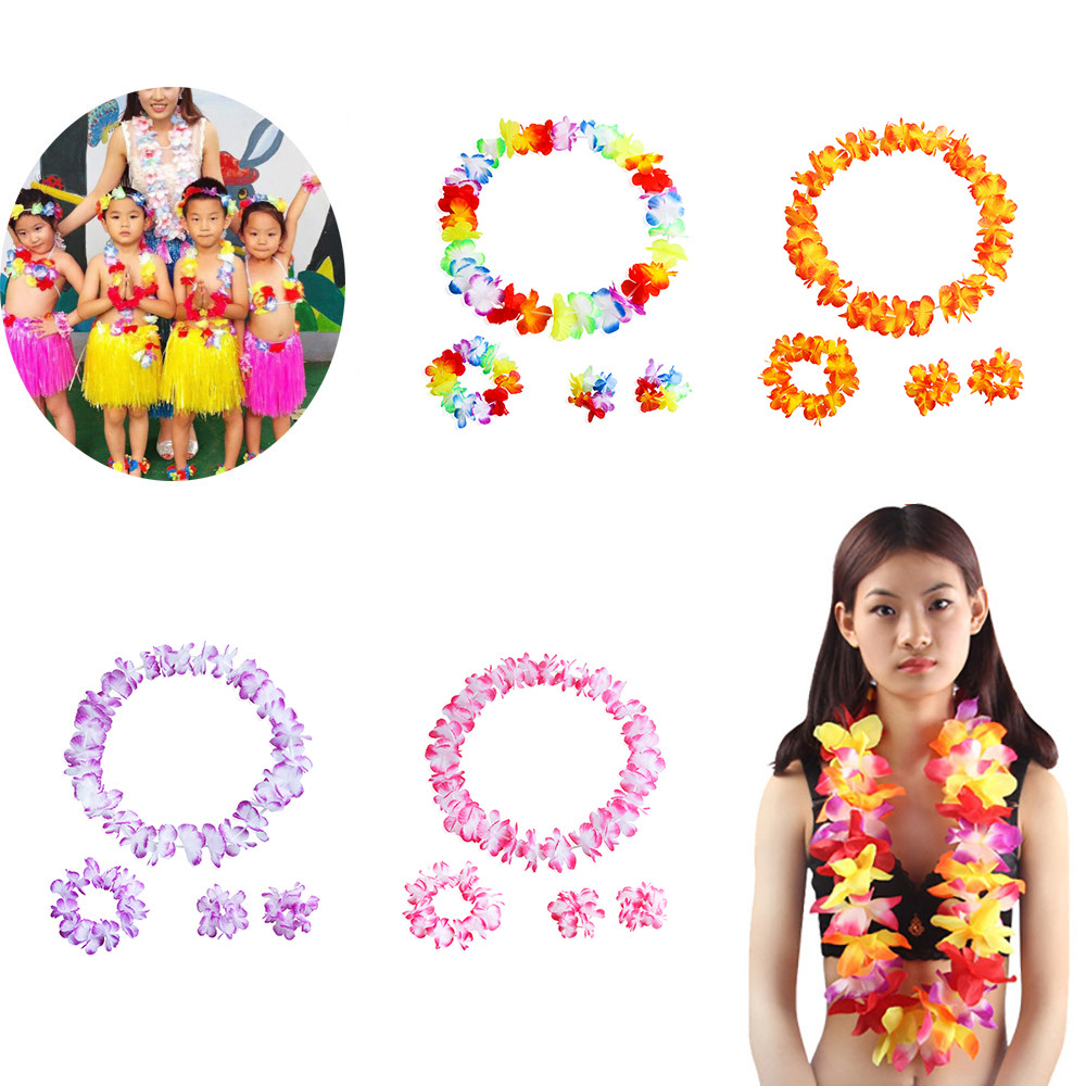 A Set  Counts Tropical Hawaiian Luau Flower Party Favors Festive Ball Party Decoration Garland Dropshipping #30
