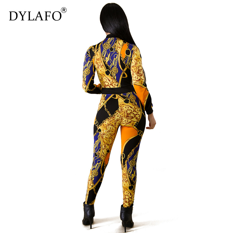 Women Print Long Sleeve Skinny Bodycon Jumpsuit Sexy Club Office Lady Streetwear Fashion Stretch Fall Winter Jumpsuits Overalls Pants & Capris Women Bottom ! Plus Size Women's Clothing & Accessories