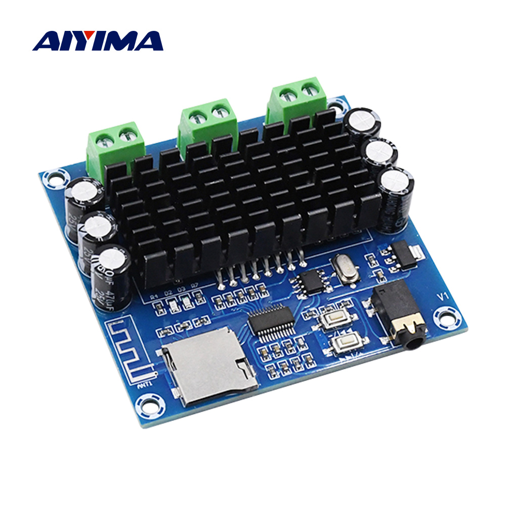 AIYIMA Bluetooth 5.0 Amplifier Board 15Wx2 TDA7297 Digital Power Amplifiers Stereo Amplificador Home Sound Theater DIY