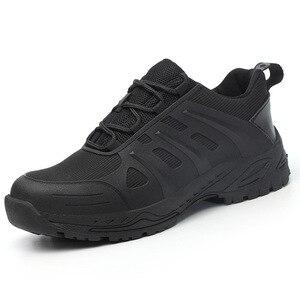 Image 2 - Защитная обувь для мужчин и женщин, легкие рабочие кроссовки со стальным носком, защита от ударов, дышащие, износостойкие