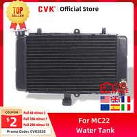 CVK motocicleta radiador negro de aluminio enfriador tanque de agua de refrigeración para HONDA CBR250 MC22 cbr250hr NC22 CBR 250 CR MC19 MC 19 22