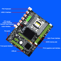 Professional For Intel X58 Socket Stable Accessories Desktop Computer Controller LGA 1366 Mainboard SATAII CPU Motherboard