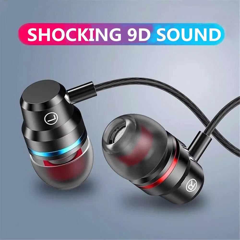 Fone de ouvido intra-auricular, fones com fio de 3.5mm, headset esportivo com microfone para iphone, xiaomi, samsung, huawei estéreo,