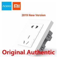 Aqara Xiaomi Smart wall Socket Zigbee wifi Remotel Control Wireless Switch Work For Xiaomi Smart home kits APP for Samsung цена