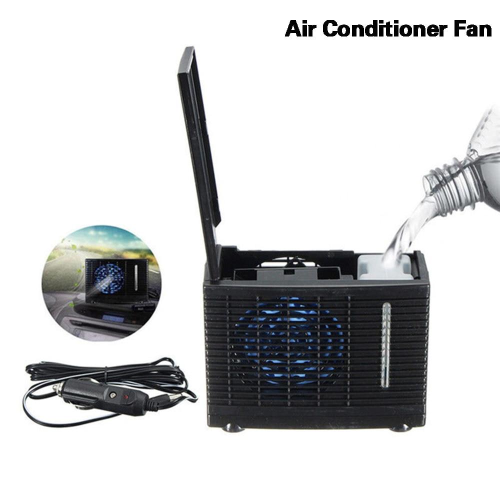 Miniventilador de aire acondicionado portátil, enfriador de agua evaporativo de 12V, para coche, camión, hogar y oficina