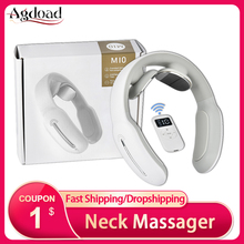 Neck-Massager TENS Cervical-Traction Rechargeable Pain-Relief Pulse Wireless-Ems USB