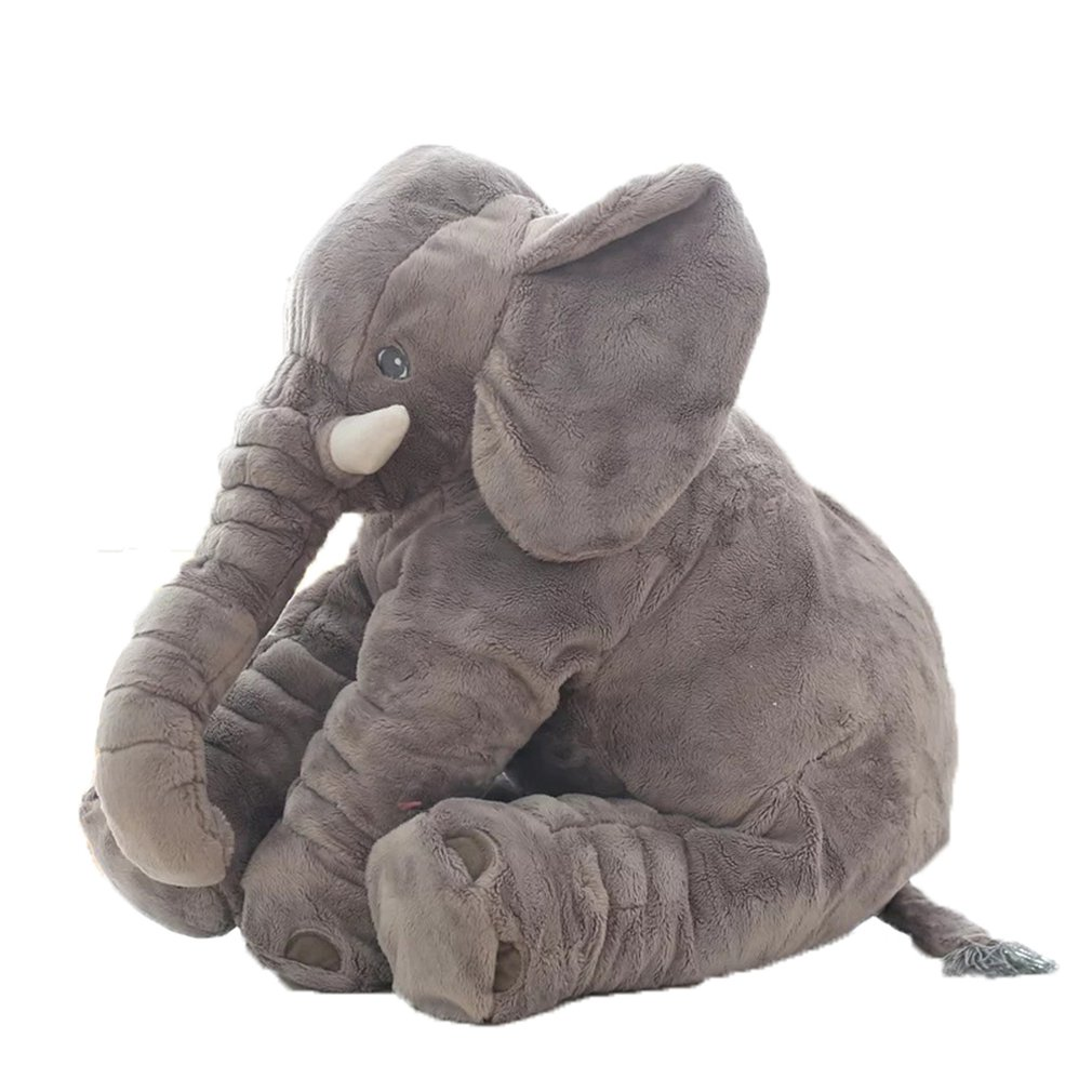40cm/60cm Height Large Plush Elephant Doll Toy Kids Sleeping Back Cushion Cute Stuffed Elephant Baby Accompany Doll  Gift