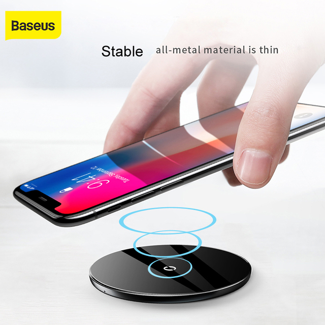 Baseus 10W QI Wireless charger fast wireless charging pad For iPhone X 8 7 Samsung Galaxy S9 S8 note8  mobile phone charger pad