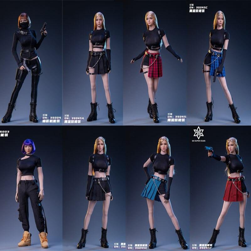 Предварительная продажа 6 супер звезд 3STOYS 3S045 1/6 женская одежда сексуальная красивая футболка юбка комплект одежды подходит для TMTOY голова Л...