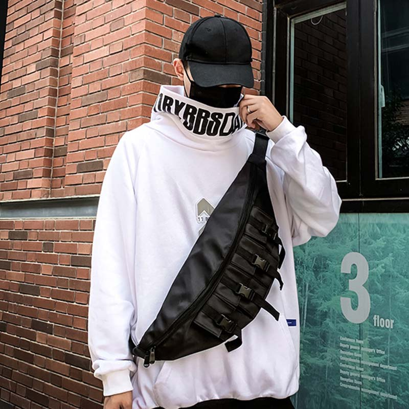 New Waist Bag Men Waist Bag Women Shoulder Bag Hip Hop Chest Bag Street High Capacity Kidney Bag Bum Bags Travel Banana Bags
