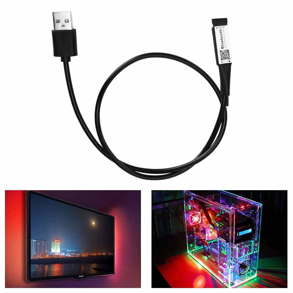 Controlador Bluetooth RGB LED USB de 5V para luz de fondo de TV led temporizador de música control remoto RGB Wifi Magic casa de