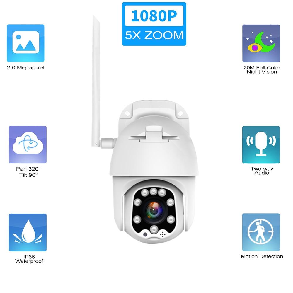 Outdoor Dome Camera 5x Zoom 1080p Wifi
