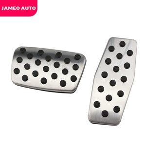 Image 3 - Jameo 自動ステンレス鋼車のペダルパッドペダルシボレークルーズ trax オペル mokka ためマリブ 2013 2018 アストラ j 記章