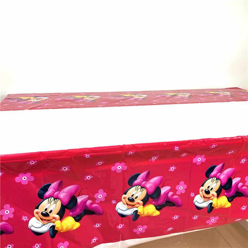 Disney Merah Minnie Mouse Kartun Tema Pesta Ulang Tahun Anak-anak Peralatan Makan Sekali Pakai Ulang Tahun Perlengkapan Dekorasi Pesta