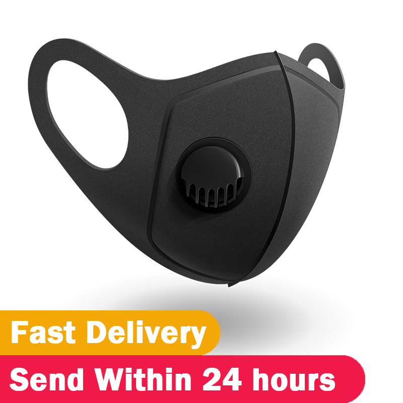 High Quality Men Women Sponge Mask Anti-Dust Mask Anti PM2.5 Pollution Face Mouth Respirator Black Breathable Filter Valve Mask