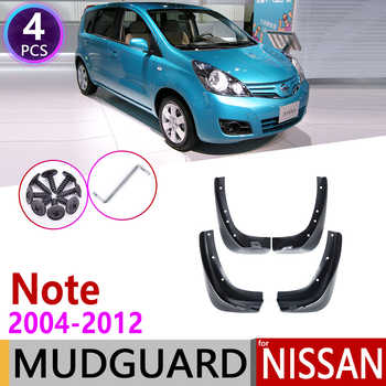 for Nissan Note 2004~2012 E11 Mudflap Fender Mud Flaps Guard Splash Flap Mudguard Accessories 2005 2006 2007 2008 2009 2010 2011 - DISCOUNT ITEM  49% OFF All Category