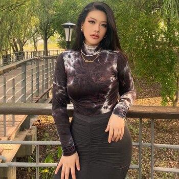 2020 Autumn Tie Dye Plus Size Bodysuit Women Romper Sexy Long Sleeve Bodysuit For Women High Neck Slim Fit Body Suit 1