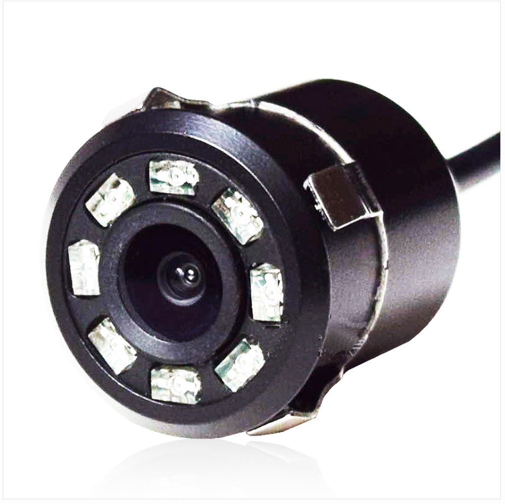 18. 5mm Hole Light Included 8 LED Color Rearview Camera High-definition Night Vision Color Card Embedded