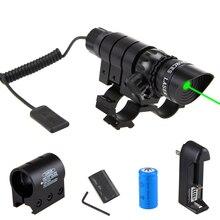 VASTFIRE mira telescópica táctica Wepon Light verde/rojo, montaje de mira de luz, Rifle Picatinny de caza, interruptor de presión remota de barril
