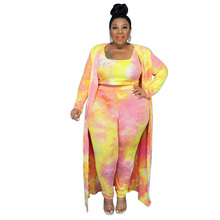 Ladies New African Plus Size Cardigan High Waist Loose Leggings Casual Commuter Street Fashion African Ladies 3-Piece Set