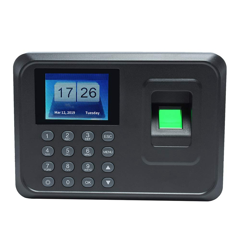 US Plug,H1 Intelligent Biological Fingerprint Password Attendance Machine Employee Sign-In Recorder