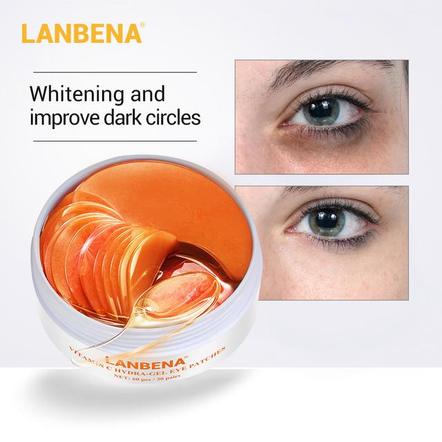 LANBENA VC Collagen Gel Eye Mask Remover Dark Eye Circle Anti Aging Repaire Wrinkle Lighten Eye Skin Care Eye Patch 60PCS