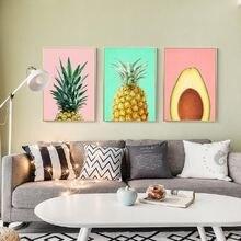 Принт ананаса фрукты большой постер современное минималистское