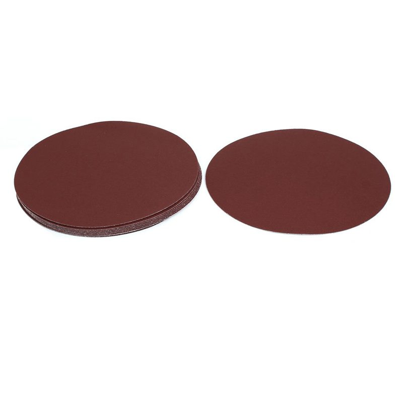 ABSF 9-Inch Dia 120 Grits Self-Stick Sanding Disc Flocking Sandpaper Polishing Tool 10Pcs