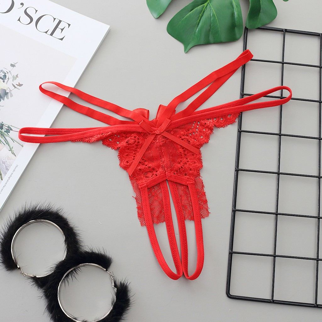 Crotchless Women Sexy Lingerie Underwear Set Thong g String Sex Baby Doll Butterfly Panties Briefs Lingerie Feminina Panty Set